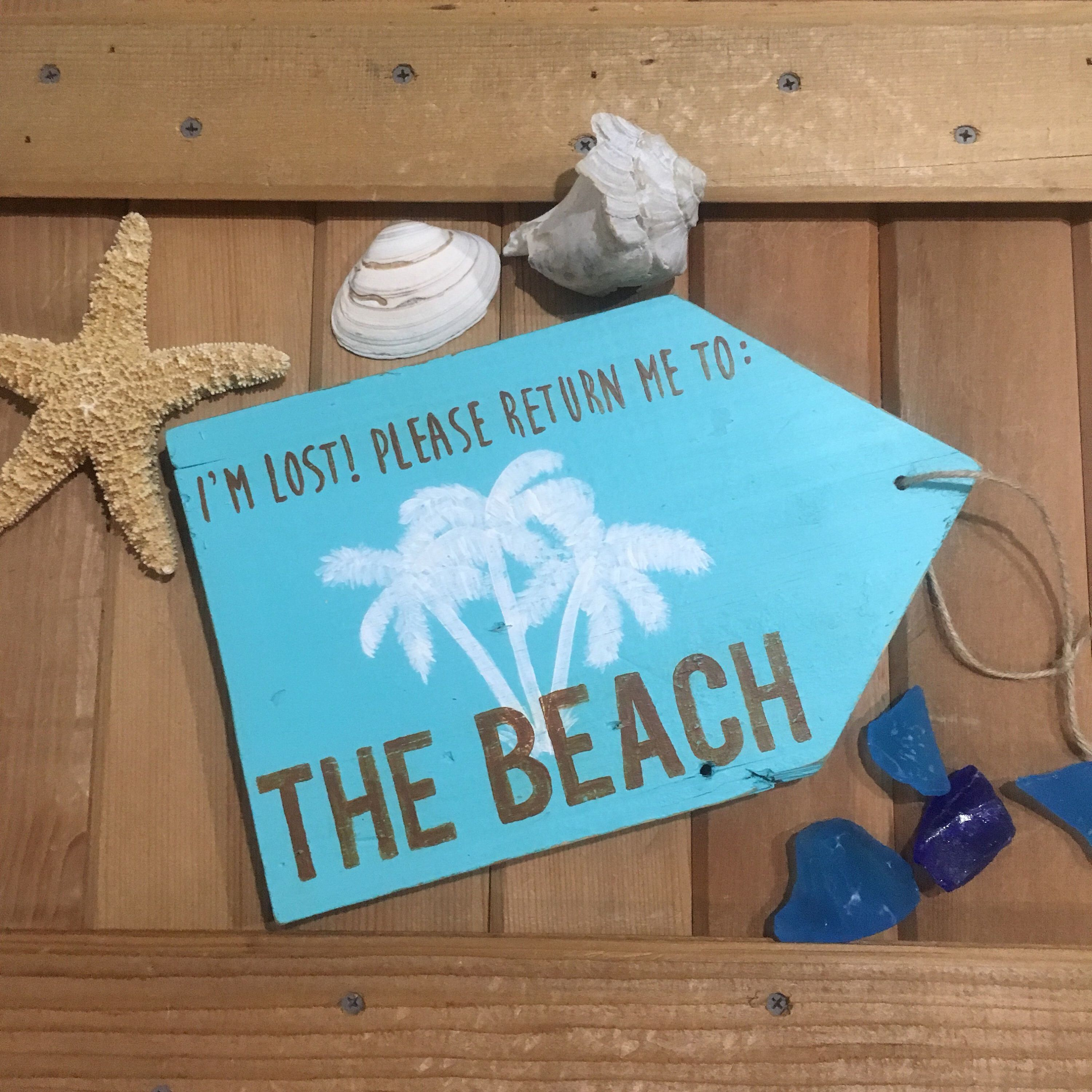 PLEASE RETURN ME TO THE BEACH Sign From My Etsy Shop