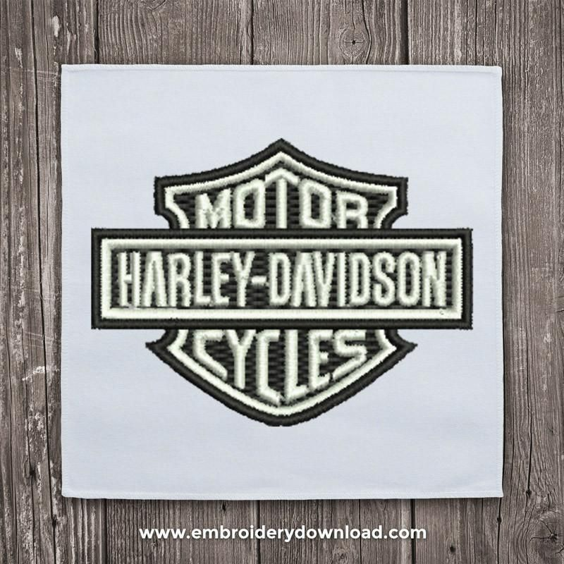 Harley Davidson Logo Free Embroidery Design Machine Embroidery
