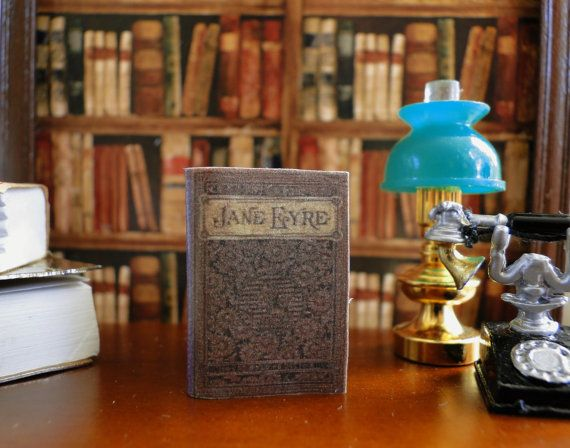1:12 SCALE MINIATURE BOOK JANE EYRE CHARLOTTE BRONTE