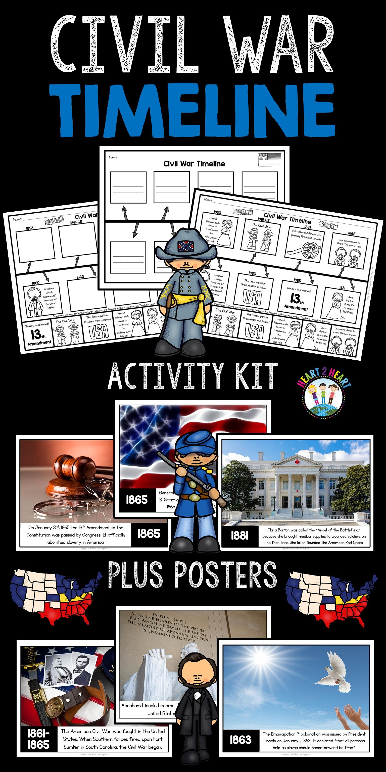 Civil War Timeline And Bulletin Board Kit