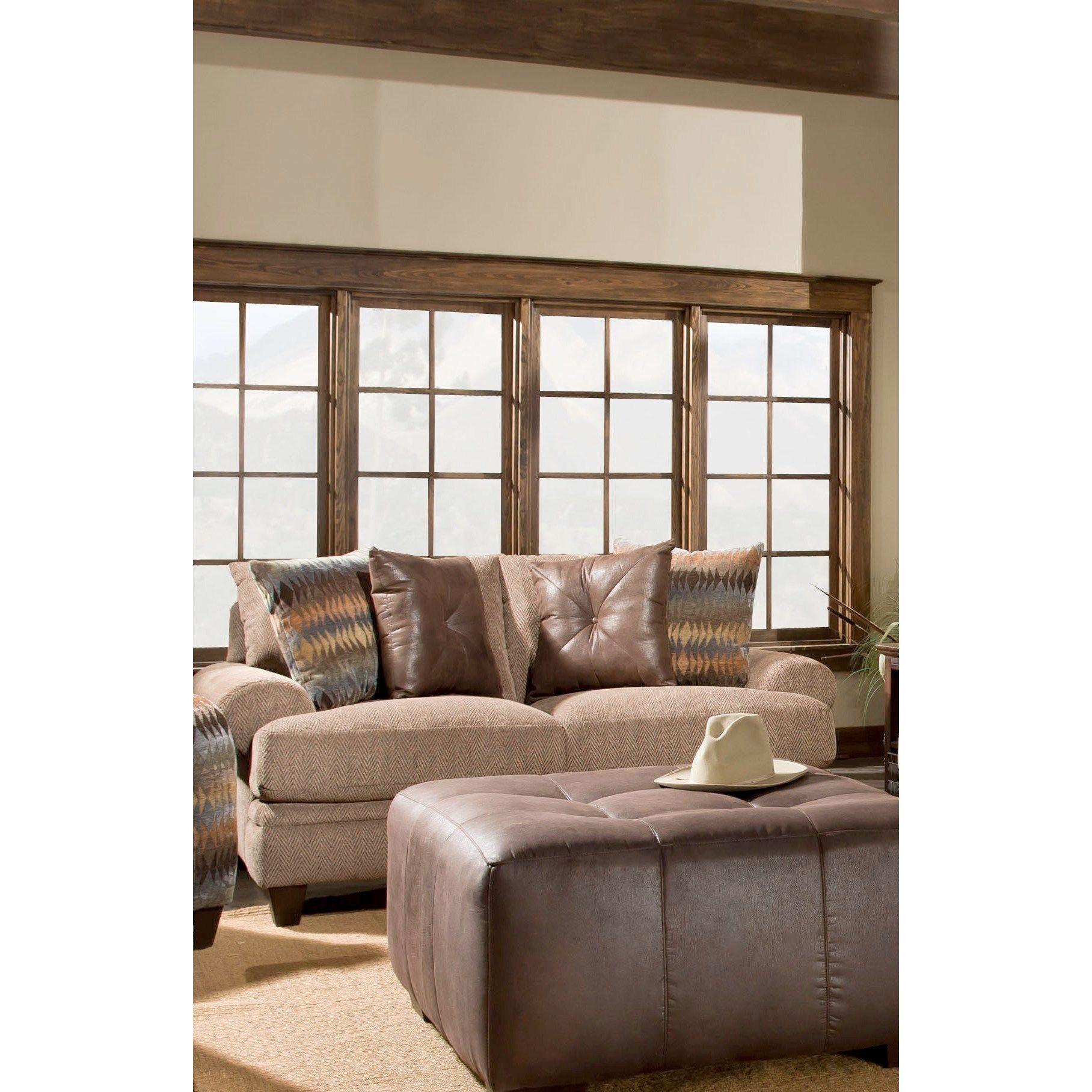 Sofa Trendz Allison Taupe Cotton blended Loveseat