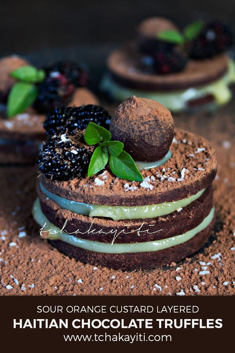 Haitian rum infused chocolate truffles recipe dessert