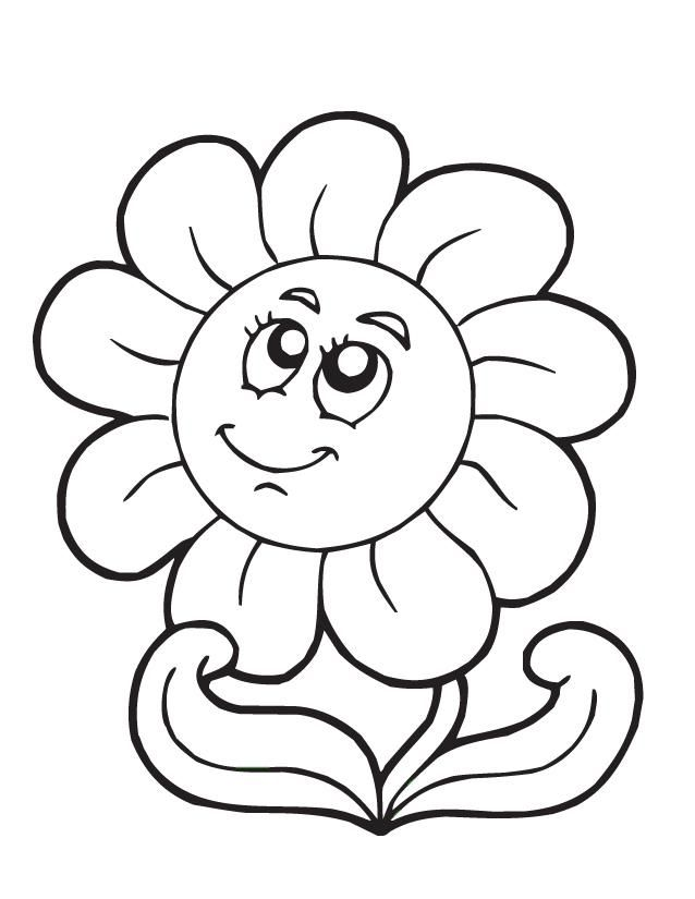 Cartoon Coloring Pages Spring Flower