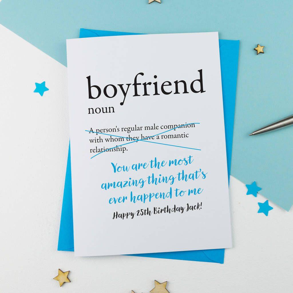 Birthday Card For Boyfriend Personalised in 6  Birthday cards