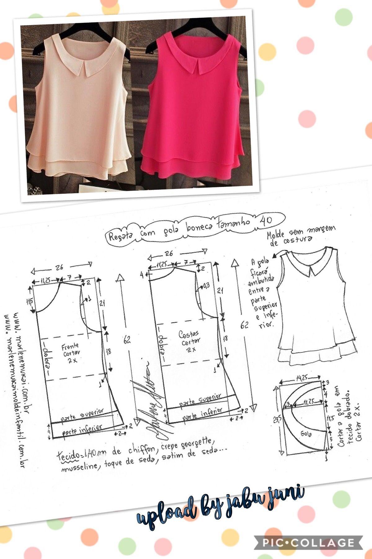 Loose blouse | Blusas | Pinterest | Costura, Patrones de costura y ...