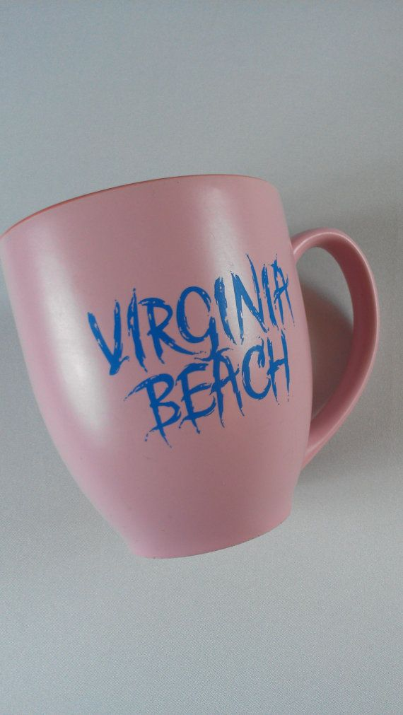 Virginia Beach Coffee Mug Cup Pink Blue Cocoa Http Etsy Me