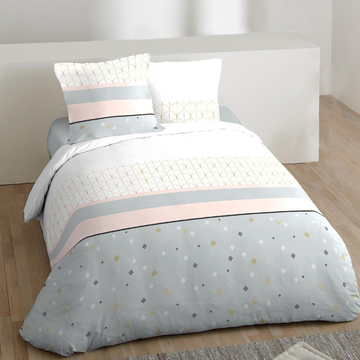 Housse De Couette Klin Or 2 Taies 100 Coton 57 Fils Cama Decoracao
