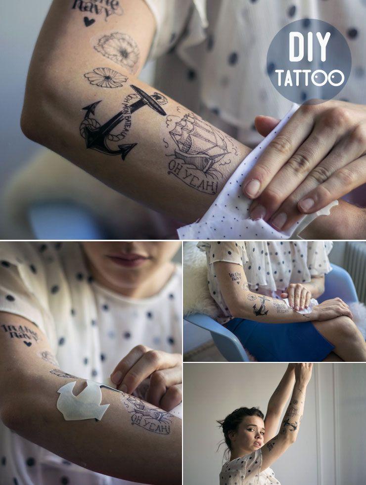 Tatuajes Temporales Hechos En Casa diy temporary tattoos with free templates   diy   pinterest