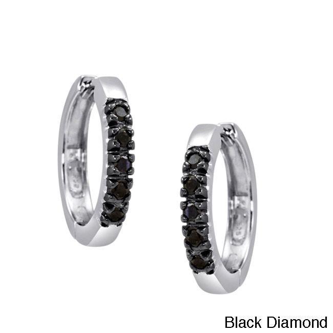 Jewelonfire Sterling Silver 1 4ct Tdw Diamond Hoop Earrings Women S