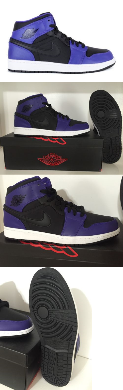 buy online 1d456 00192 Basketball  New Nike Mens Air Jordan 1 Mid Retro Black Dark Concord 554724- 019 (Size 9.5) -  BUY IT NOW ONLY   88.95 on eBay!