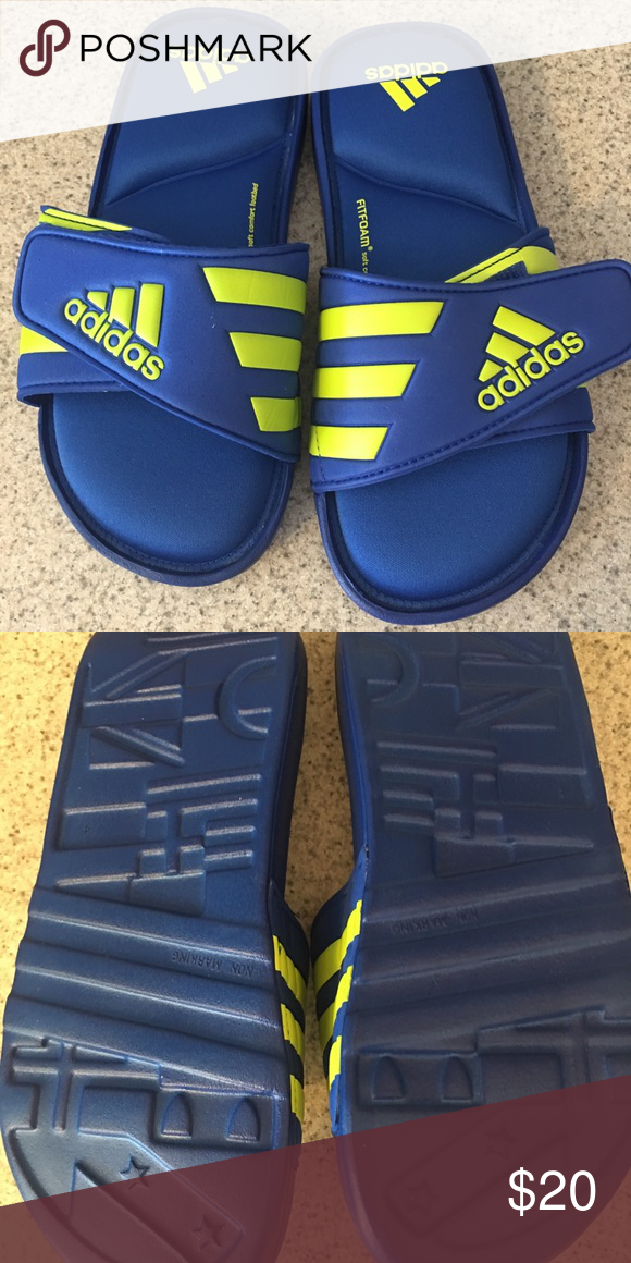 NEW Boys Flip Flops Sport Sandals Size 12-13 Medium Kids Black Slides Shoes