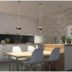 Photo of Top Light Puk Maxx Drop Pendelleuchte schwarz-chrom Standard-Fassung Top LightTop Light