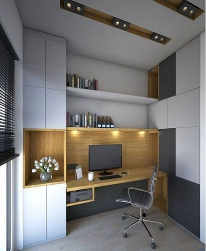 48 Wonderful Small Office Design Ideas images