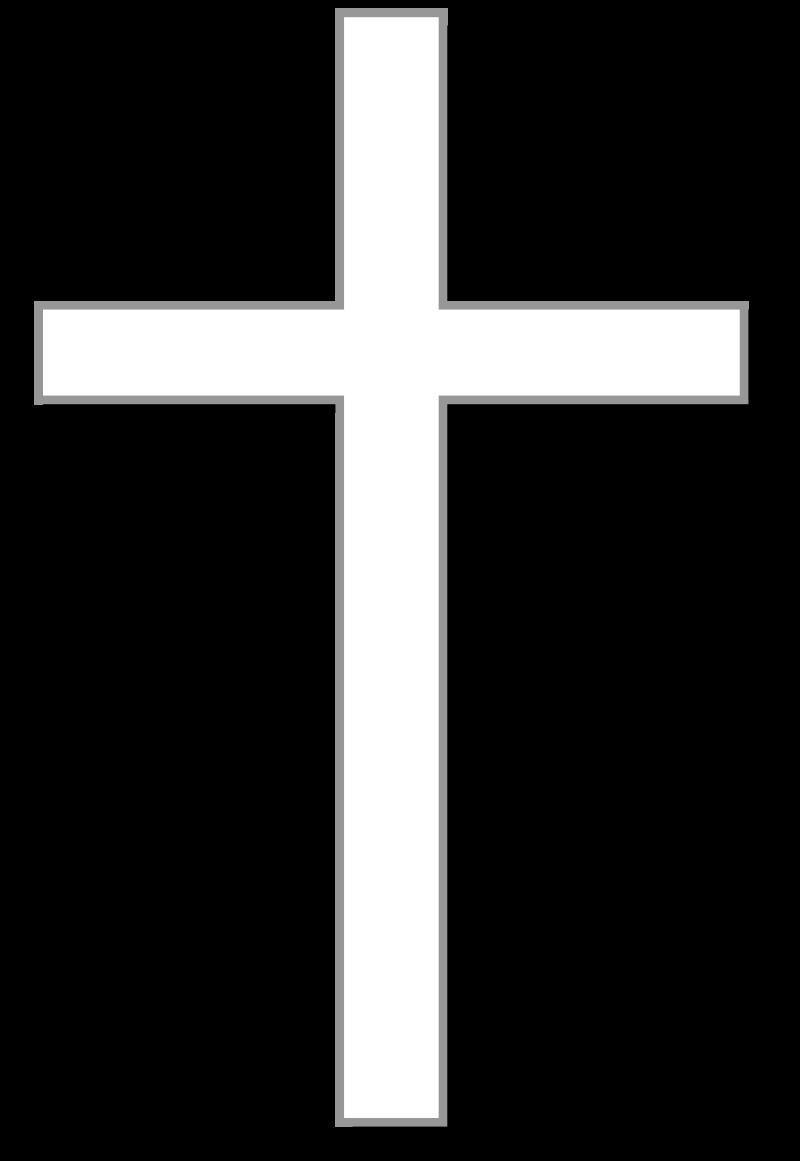 white cross w gray outline black shadow and light gray background rh pinterest com Black and White Religious Graphics Jesus Clip Art Black and White