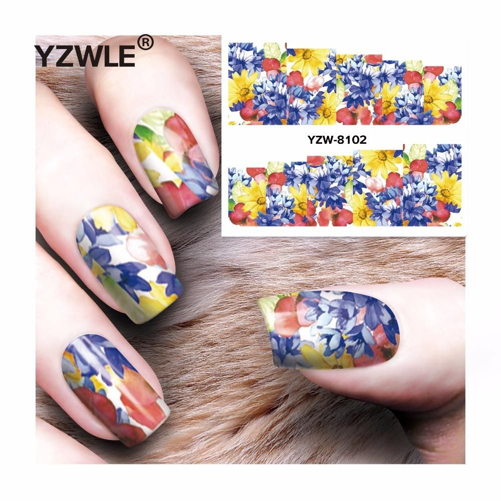 1 Sheet Nails Art Water Transfer Stickers   Water transfer and Manicure