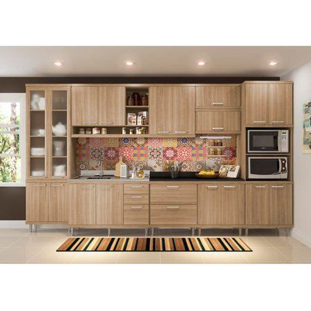 Cozinha Compacta Multimóveis Sicília 5139 Colombo em