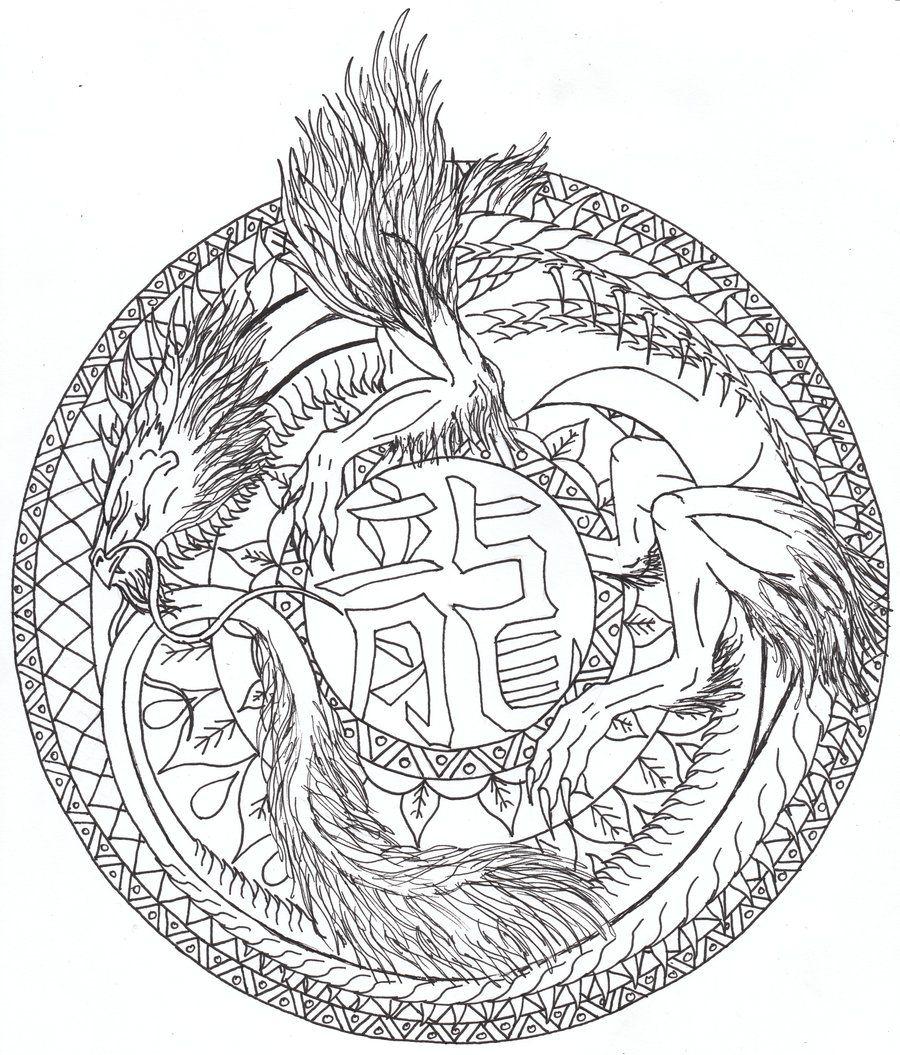 This Celtic Dragon Coloring Pages 23399 Celtic Mandala Design