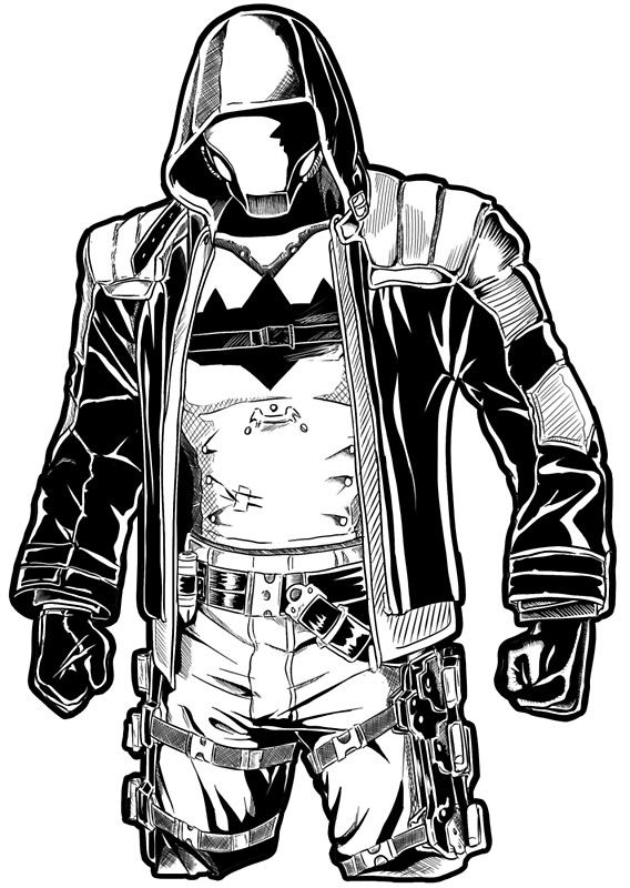 Red Hood- Black Arkham\' Photographic Print by Dina Barrios ...