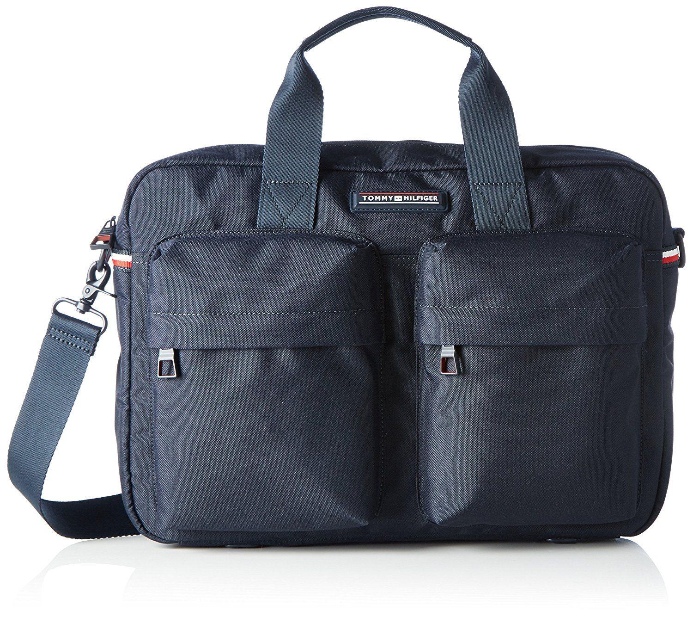 Tommy Hilfiger Computer Bag, Men's Laptop Schwarz (Black), 8 x 28 40 cm  (wxhxd)
