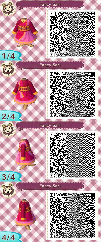 Steven universe animal crossing new leaf qr codes Puppycat Fancy Sari Qr Code For Animal Crossing New Leaf This Dress Is Based On The Pin By Mastery On Animal Crossing Pinterest Animal Crossing