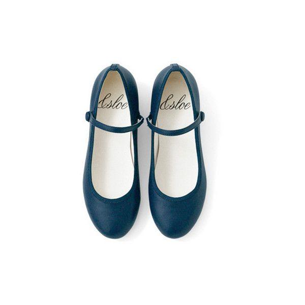 &スロウ ストラップバレエシューズの会 フェリシモ (52 AUD) ❤ liked on Polyvore featuring shoes, flats, sapatos, обувь, flat shoes, flat pumps and flat heel shoes