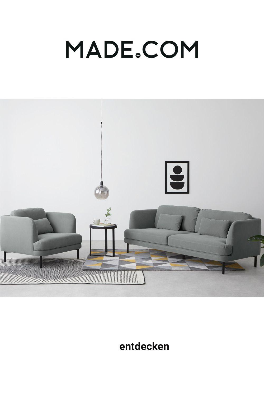 Made Sofa Grau In 2020 Sofa 3 Seater Sofa 2 Seater Sofa