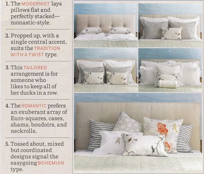Various Ways To Showcase Pillows On A Bed NeedtoKnow Decorating Cool Decorating Bed With Pillows