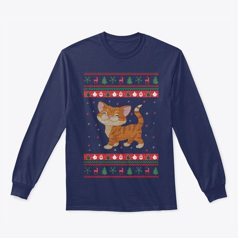 cat ugly funny christmas t shirt