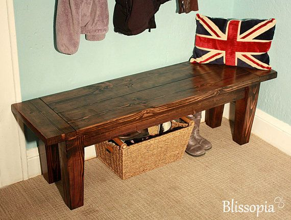 Hey, I found this really awesome Etsy listing at https://www.etsy.com/listing/167585261/solid-wood-tapered-leg-bench-handmade