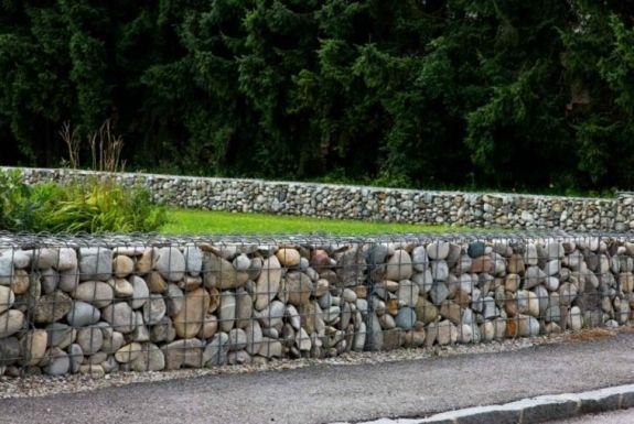 Gaviones decorativos para patios y jardines - 34 ideas - | Muro de ...