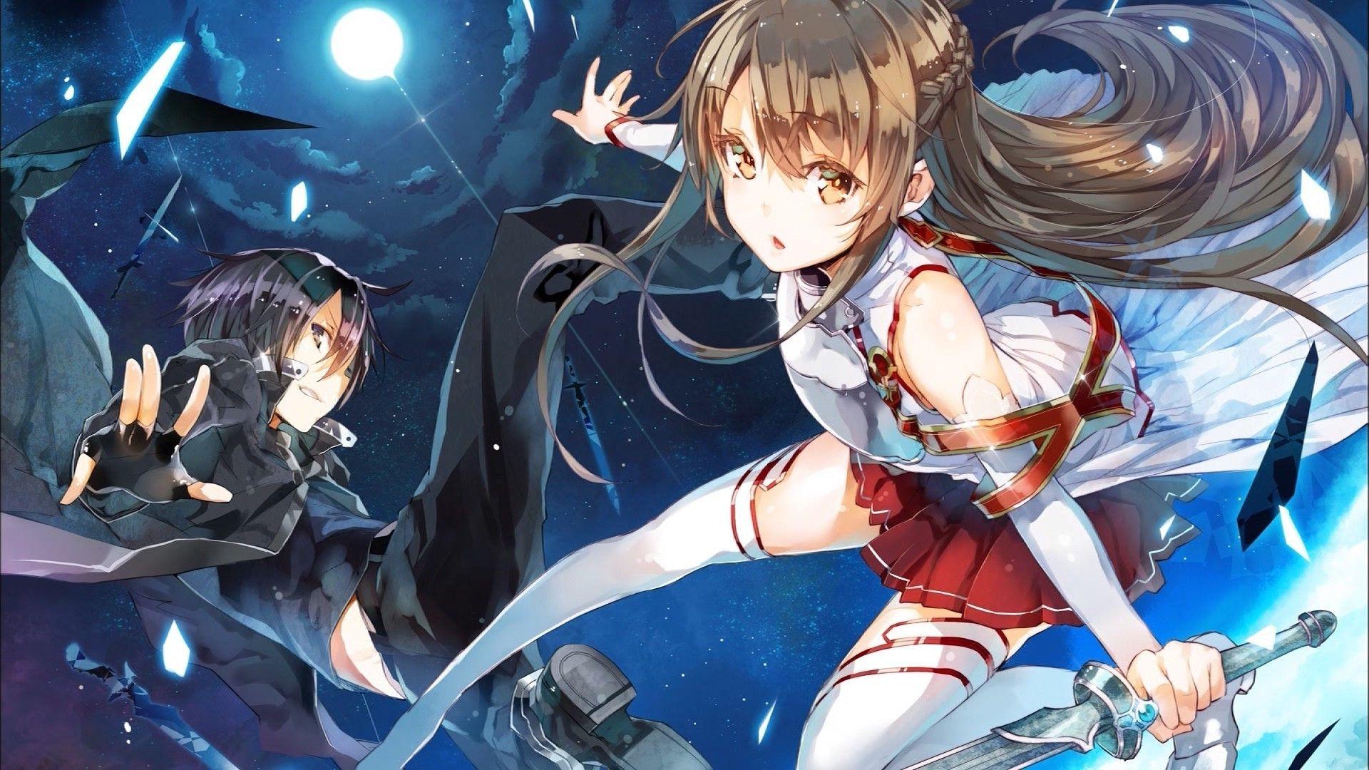 sword art online wallpaper kirito and asuna - google search | sword