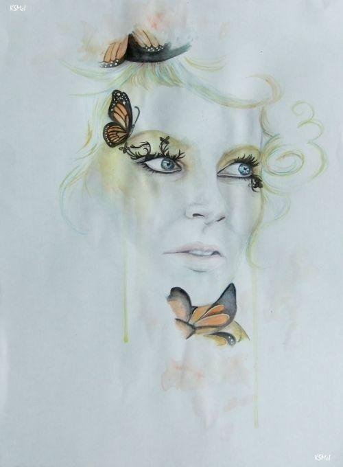 Hunger Games Fan Art / Effie / Victory Tour / Butterflies / Catching Fire / Quarter Quell