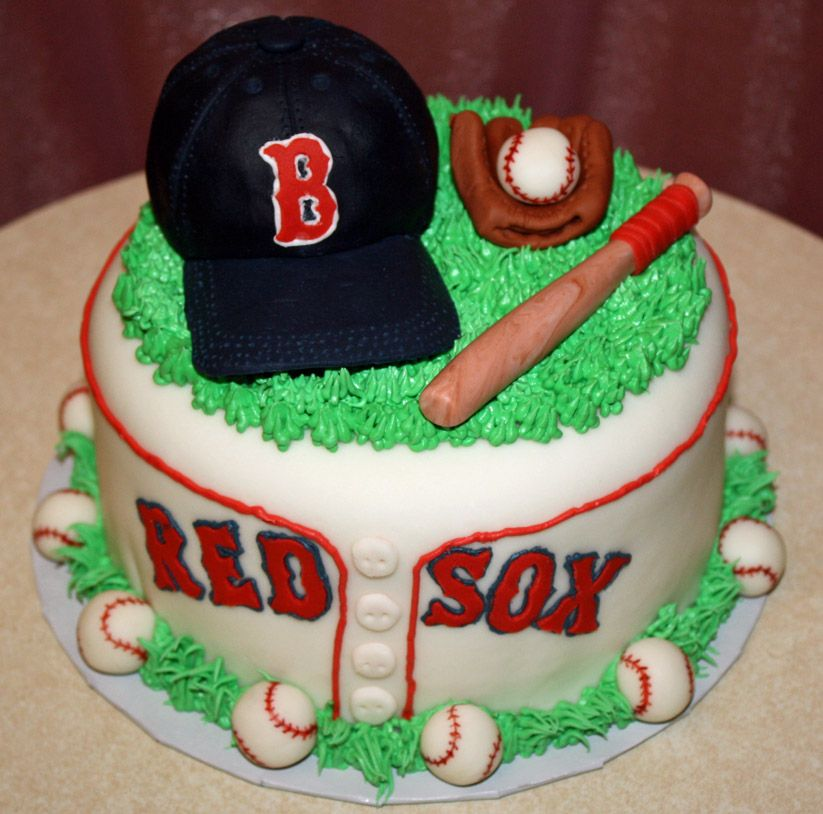 """Boston+Red+Sox+-+6""""+carrot+cake+with+cream+cheese+frosting"""
