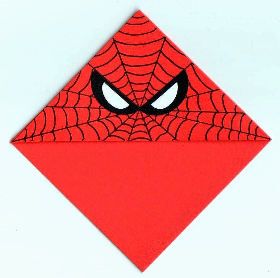 Image result for spiderman origami bookmark
