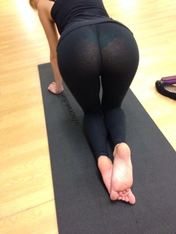 See through yoga pants galleries