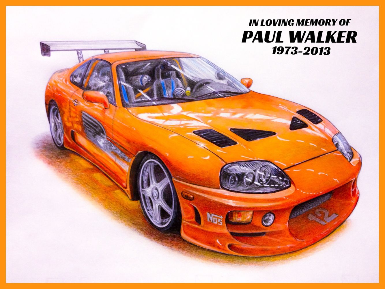 Toyota Supra Fast And Furious Car Drawing Pinterest Cars