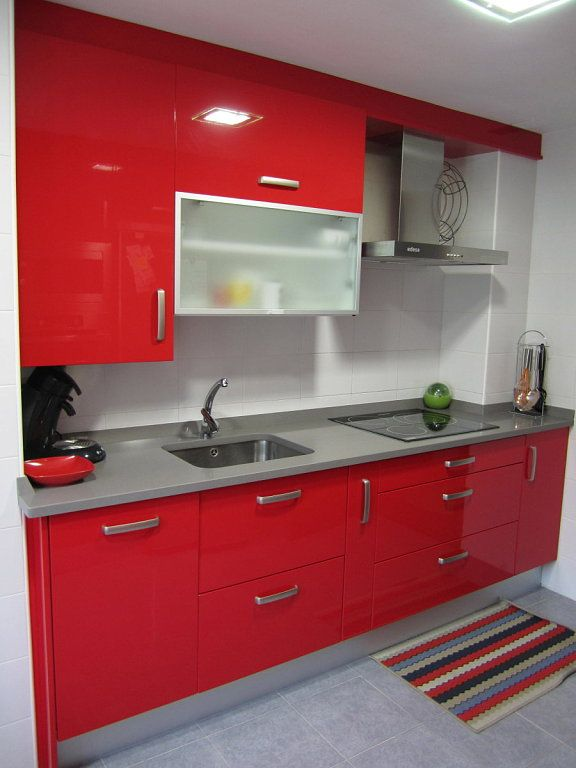 cocina roja red kitchen Kitchens Pinterest Red kitchen