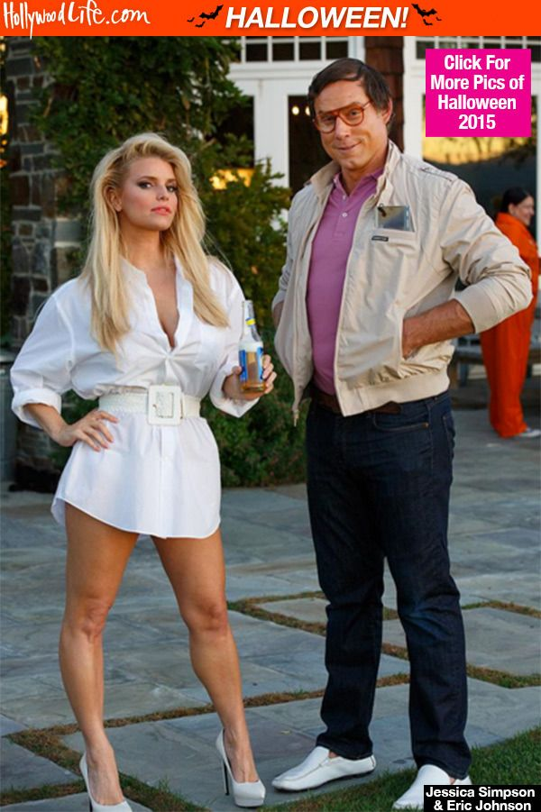 jessica simpson eric johnson are spot on with epic vacation halloween costumes