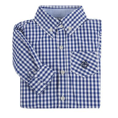 Andy and Evan Blue Gingham L/S Classic Shirt