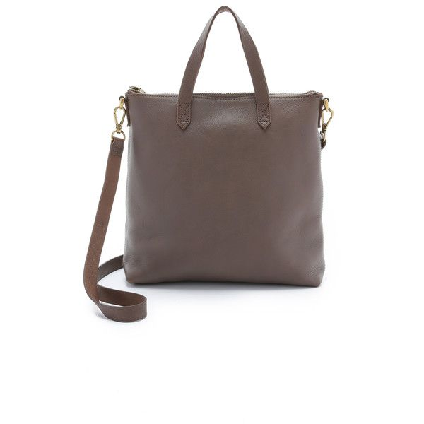 Madewell The Mini Transport Cross Body Bag (9.285 RUB) ❤ liked on Polyvore featuring bags, handbags, shoulder bags, castle rock, brown leather shoulder bag, crossbody handbags, crossbody shoulder bags, brown leather crossbody and leather handbags