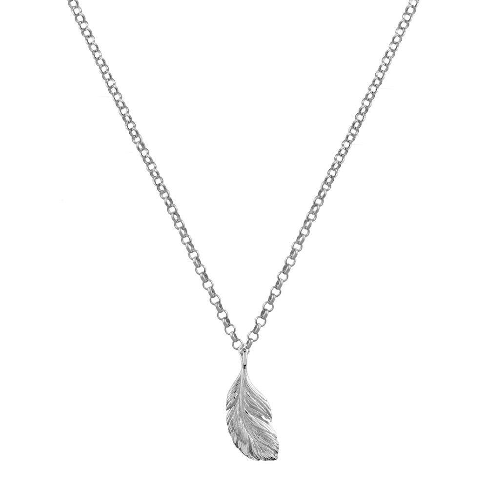 0281847dc9c1 Aristocrazy Colgante pluma en plata de ley