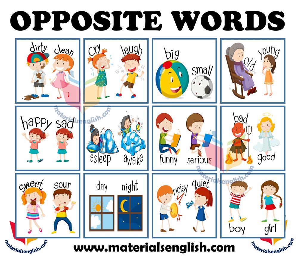 Opposite Words , Opposites Preschool
