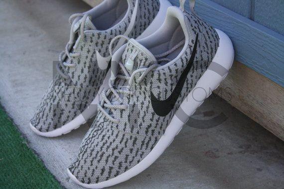 182bec204d63 ... nike roshe run one grey yeezy low 350 boost custom men women adidas 3m  laces
