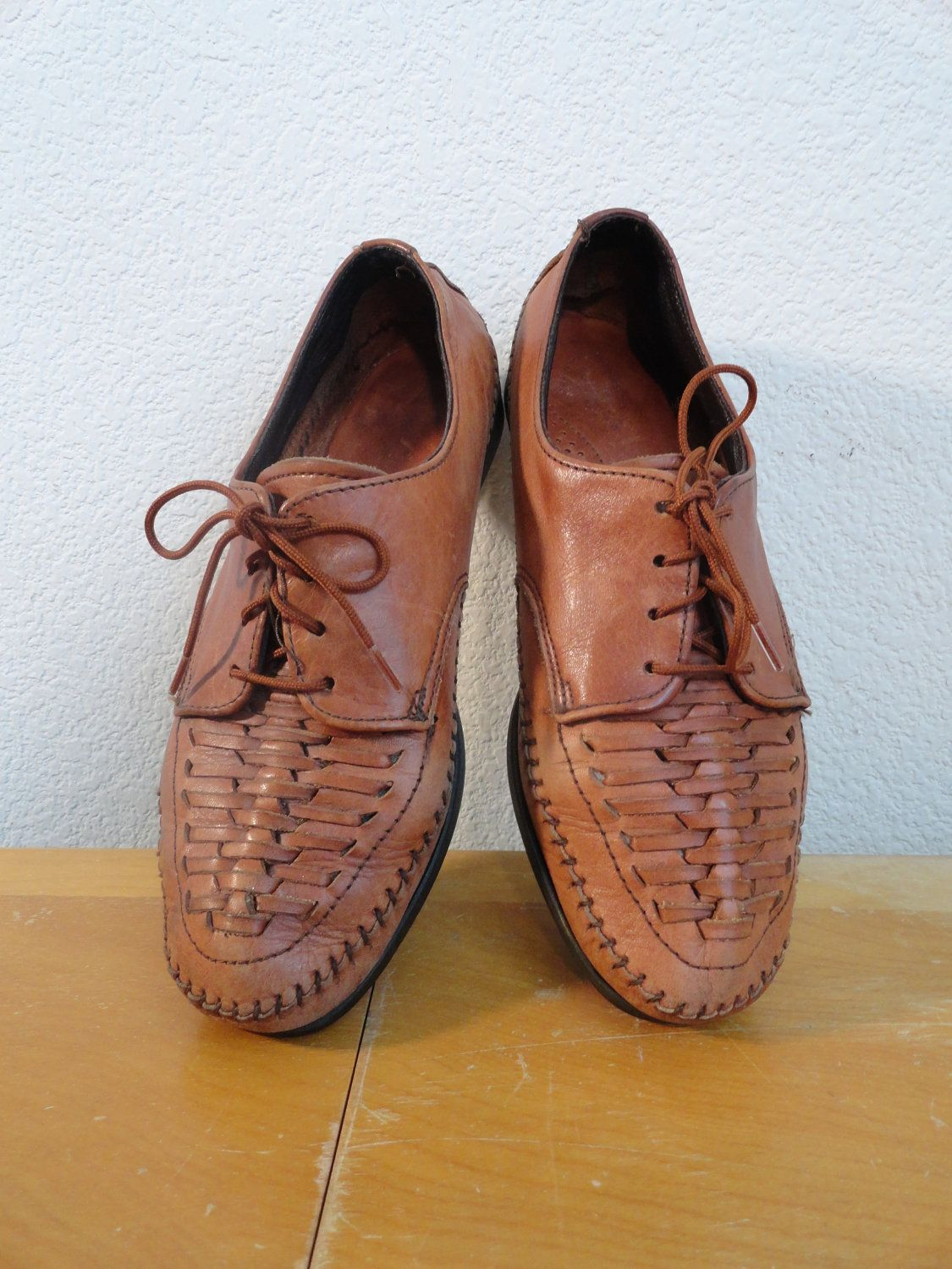 564d66ab694 Reserved For Rahma - Vintage Dexter Braided Leather Huarache Lace Up ...