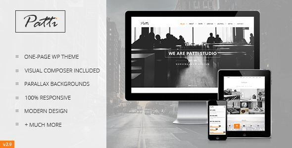 Patti v2.9.3 Parallax One Page WordPress Theme Blogger Template ...