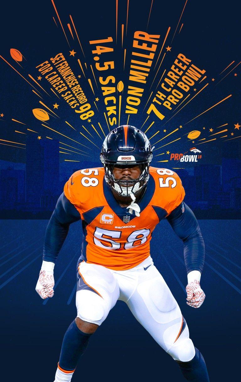 Von Miller Wallpaper Von Miller Broncos Denver Broncos