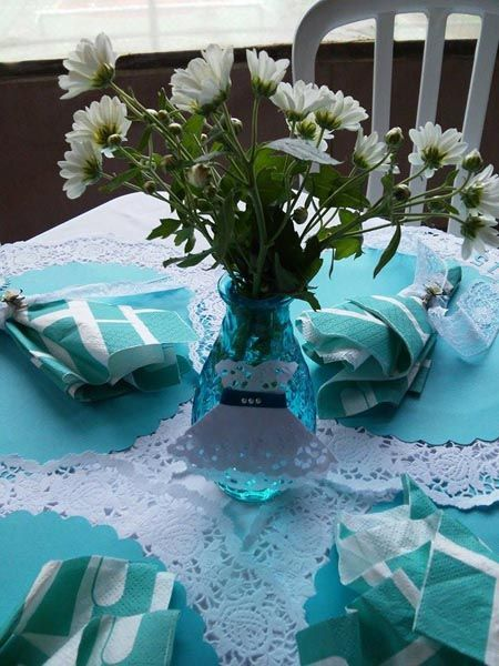 Centro De Mesa Festa 15 Anos Azul Tiffany Com Imagens 15 Anos