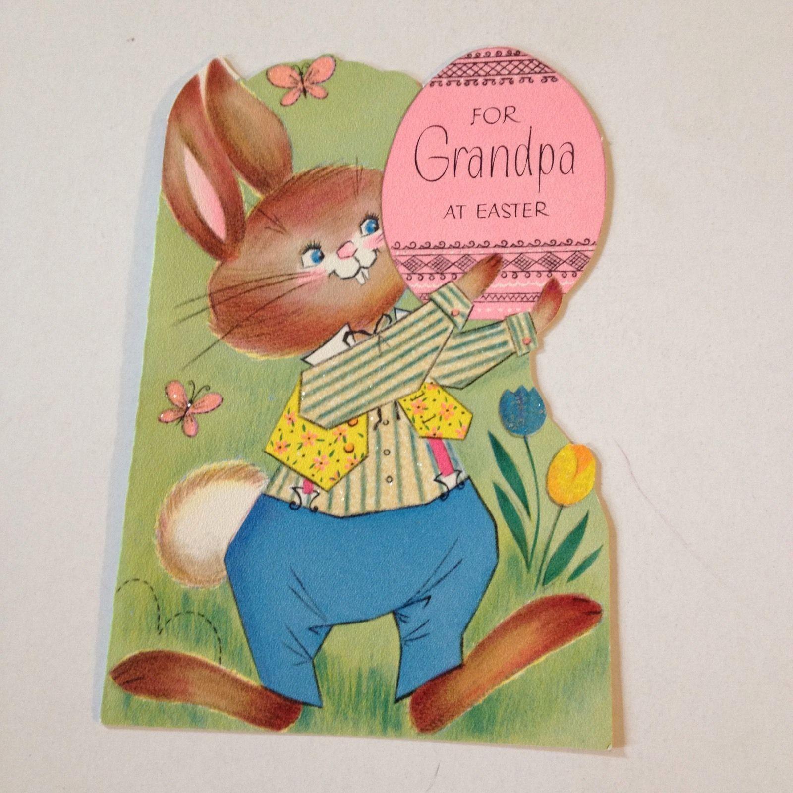 Vintage Greeting Card Easter Rust Craft Bunny Rabbit | eBay