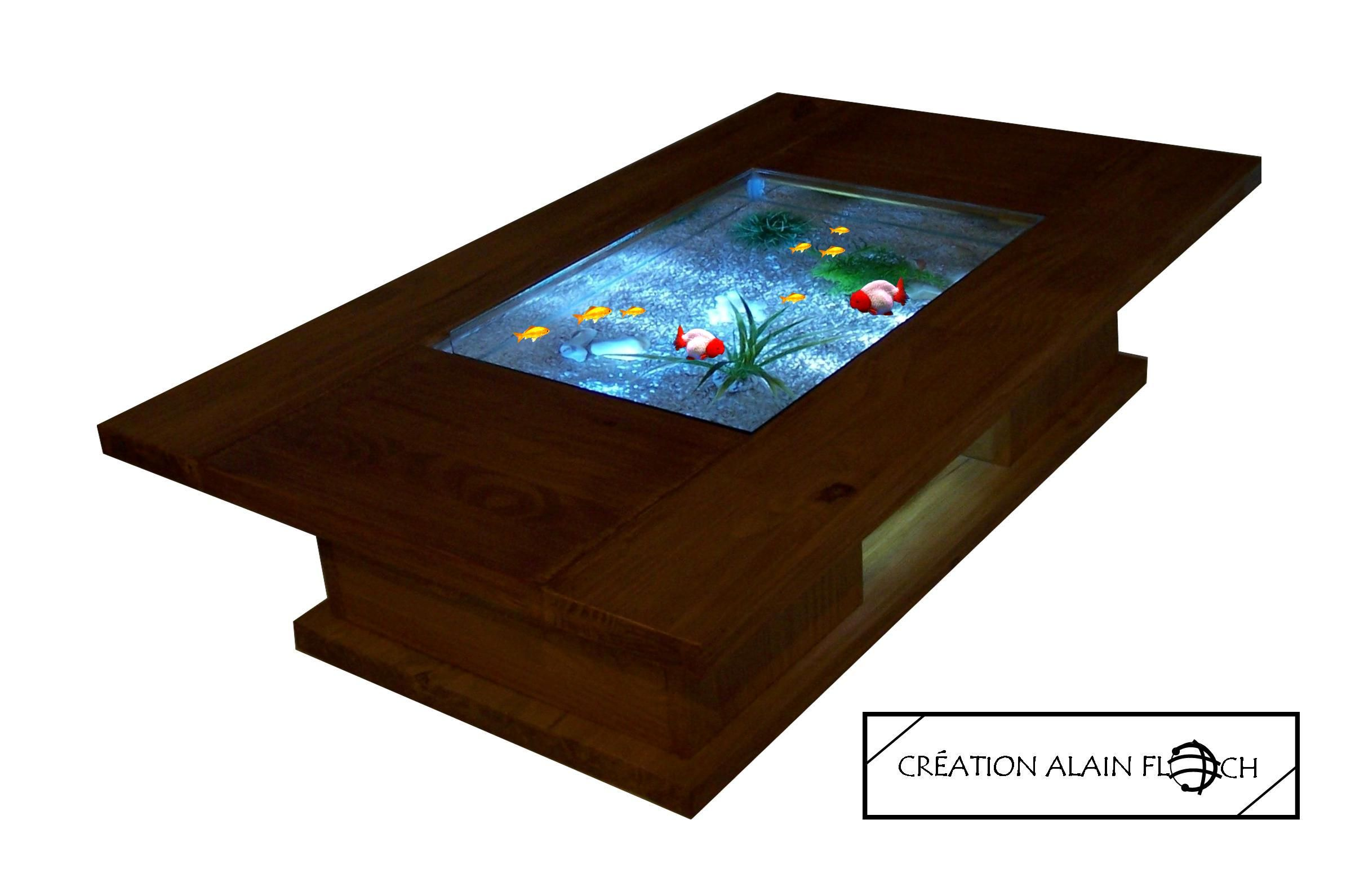 Table Basse Aquarium Terrarium Helio Sans Fil Table Basse  # Sortes Des Meuble En Bois Morte Television