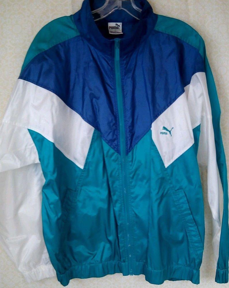 c8aaf17e4 Vintage Puma Windbreaker/Track Jacket W/Hood M Tag #Puma ...